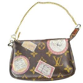 Louis Vuitton-Pochette accessoire Louis vuitton collector-Marron