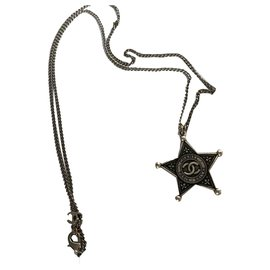Chanel-Paris Dallas Necklace-Silvery