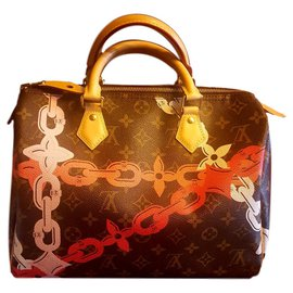 Louis Vuitton-Louis Vuitton SPEEDY Chain FLOWER-Multicolore