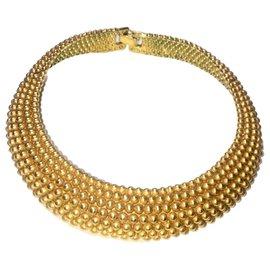 Yves Saint Laurent-YLS necklace, Vintage-Golden