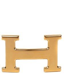 Hermès-Hermès Constance belt buckle in shiny gold metal, new condition!-Golden