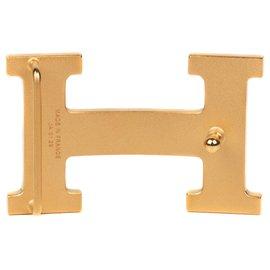 Hermès-Boucle de ceinture Hermès Constance en métal doré brillant, état neuf !-Doré