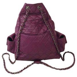 Chanel-Sac à dos-Violet