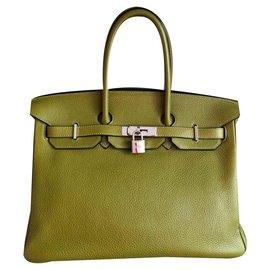 Hermès-Birkin 35-Vert olive