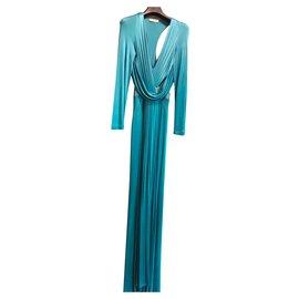 Versace-Dresses-Turquoise