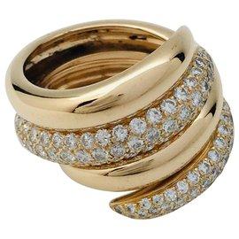 """Chaumet-Bagues Chaumet modèle """"Tango"""" en or jaune, diamants.-Autre"""