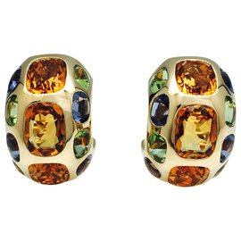 """Chanel-Earrings Chanel, model """"Coco"""", yellow gold and fine stones.-Other"""