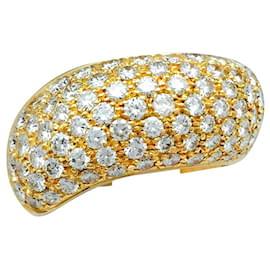 """Chaumet-Bague Chaumet, modèle """"Hommage à Venise"""", en or jaune et diamants.-Autre"""