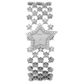 """Chanel-Chanel jewelery watch model """"Star dust"""" in white gold and diamonds.-Other"""