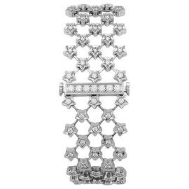 """Chanel-Montre joaillerie Chanel modèle """"Poussière d'étoile"""" en or blanc et diamants.-Autre"""