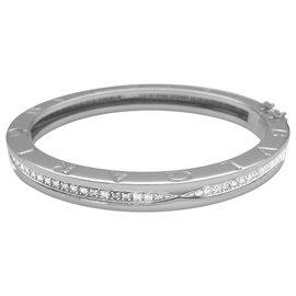 "Bulgari-Bracelet Bulgari en or blanc modèle ""B.Zero1"", diamants.-Autre"