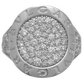 "Bulgari-Bague en or blanc Bulgari modèle ""Bulgari Bulgari"", diamants.-Autre"