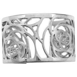 """Chanel-Chanel ring, model """"Camellia"""", in white gold.-Other"""