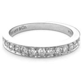 Tiffany & Co-Alliance signée de la Maison Tiffany en platine, diamants.-Autre