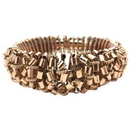 inconnue-Important bracelet en or rose, années 40/50.-Autre