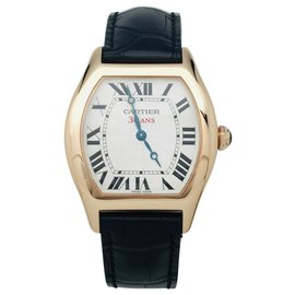 """Cartier-Cartier Modell """"Turtle"""" Uhr in Rotgold auf Leder.-Andere"""