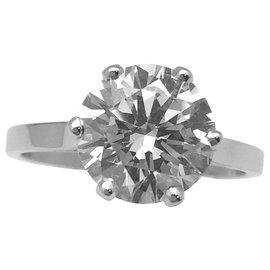 inconnue-Solitaire en platine, diamant de 2,63 carats I/VVS2-Autre