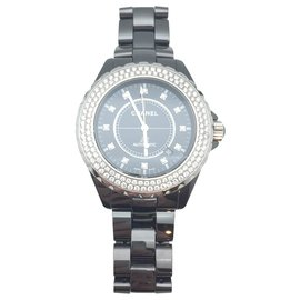 Chanel-Chanel J watch12 set with diamonds.-Other