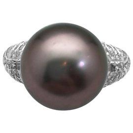 Repossi-Bague Repossi, perle de Tahiti et diamants.-Autre