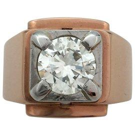 inconnue-Bague or et platine, diamant 1,80 carat environ, estimé J/VS-Autre