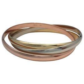 """Cartier-Bracelet Cartier """"Trinity"""" moyen modèle, vintage, trois couleurs d'or.-Autre"""