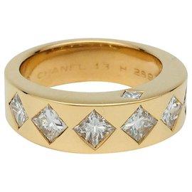 """Chanel-Bague Chanel """"Jacquard"""" or jaune et diamants-Autre"""