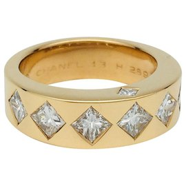 """Chanel-Chanel ring """"Jacquard"""" yellow gold and diamonds-Other"""