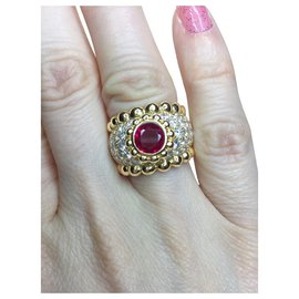 Chanel-Chanel ring in yellow gold, rubies and diamonds-Other