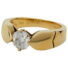 """Chaumet-Bague Chaumet """"Plume"""" sertie d'un diamant de 0,77 carat E/VS2-Autre"""