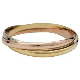 """Cartier-Bracelet Cartier modèle """"Trinity"""" en or jaune, rose et blanc.-Autre"""