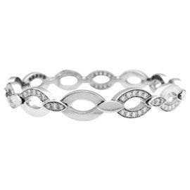 """Cartier-Bracelet Cartier en or blanc, modèle """"Diadéa"""", diamants.-Autre"""
