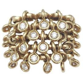 """Dior-Bague Dior modèle """"Coquine"""" en or jaune, diamants.-Autre"""