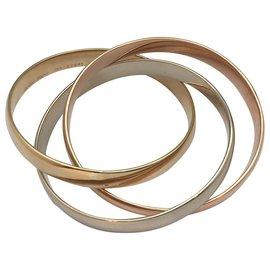"""Cartier-Bracelet Cartier """"Trinity"""" en or de trois tons.-Autre"""