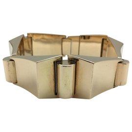 """inconnue-Bracelet """"tank"""" en or jaune des années 40.-Autre"""