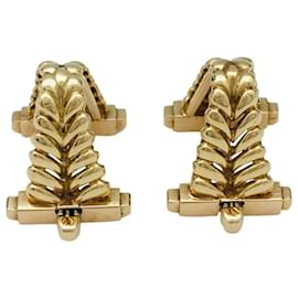 "inconnue-Yellow gold cufflinks ""ear of wheat"" .-Other"