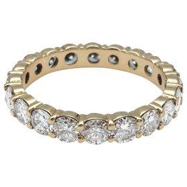 Boucheron-Bague alliance Boucheron en or jaune et diamants.-Autre