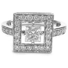 """Boucheron-Bague Boucheron modèle """"Ava"""" en or blanc, diamants.-Autre"""