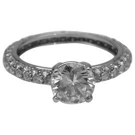 inconnue-Bague solitaire en or blanc, diamant 1,10 carat, E/VVS1-Autre
