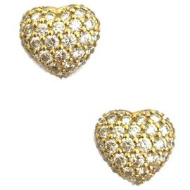 Chopard-Boucles d'oreilles Chopard en or jaune, diamants.-Autre
