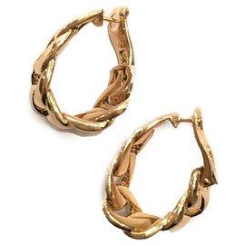 """Cartier-Boucles d'oreilles Cartier modèle """"Bergame"""" en or jaune.-Autre"""