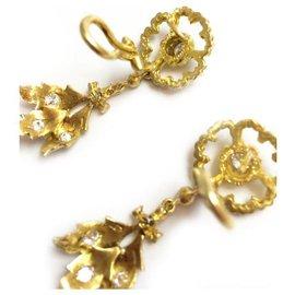 Buccellati-Boucles d'oreilles Buccellati or jaune et diamants.-Autre