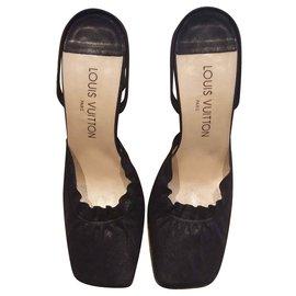 Louis Vuitton-Mules-Noir