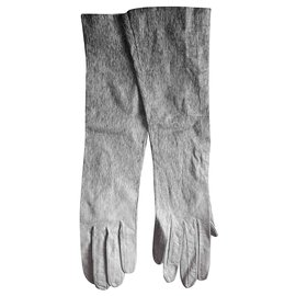 Hermès-Gloves-Black,Grey