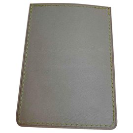 Louis Vuitton-NATURAL LEATHER CARD HOLDER-Beige