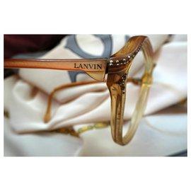 Lanvin-Montures optiques Lanvin-Marron,Fuschia