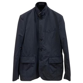 Moncler-Navy technical cotton city jacket-Navy blue