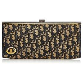 Dior-Pochette Toile Oblique-Marron,Noir