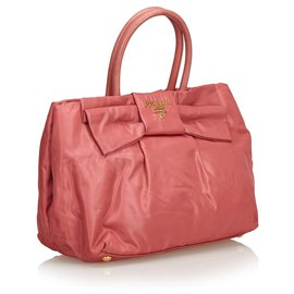 Prada-Sac à main Nylon Arc Tessuto-Rose