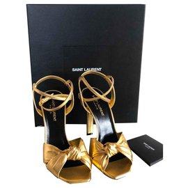 Saint Laurent-Sandals-Golden