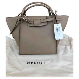 Céline-Celine small big Bag light taupe grained leather-Sand